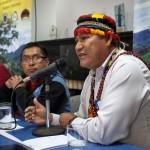 Wrays Pérez Ramírez, presidente del GTANW, en conferencia de prensa el pasado 29 de agosto en Lima. Foto: CAAAP