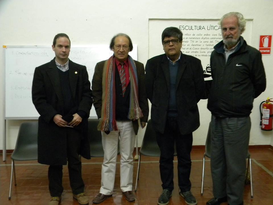 Pedro Favaron, Oscar Paredes Pando, Manuel Cornejo y Alberto Chirif.