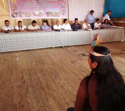 Madre indígena frente a la Mesa de Trabajo. Foto: CAAAP Loreto