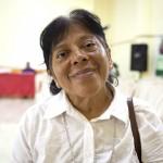 Marianella Huapaya en una pausa durante la segunda asamblea territorial presinodal, que tuvo lugar en Yurimaguas el mes de setiembre. Foto: CAAAP