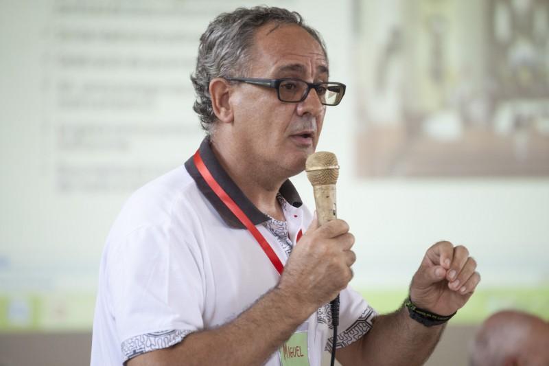Miguel Ángel Cadenas en la tercera asamblea territorial presinodal que se desarrolló en Iquitos. Foto: CAAAP