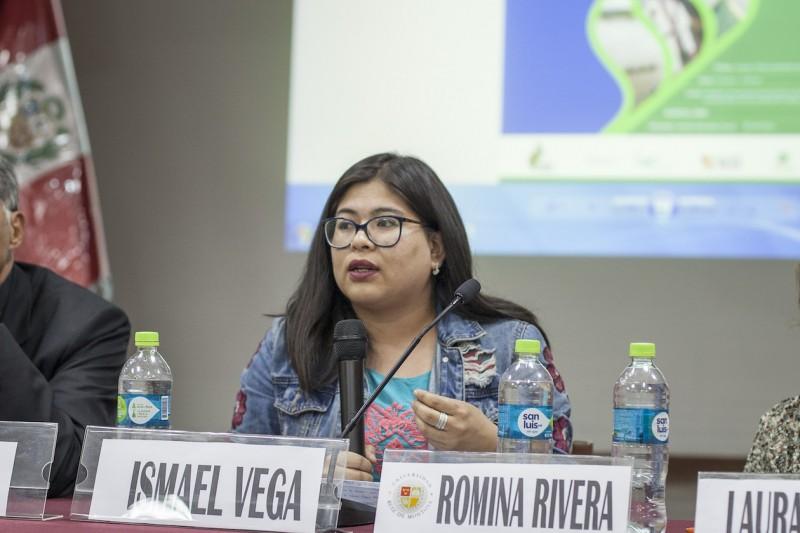 Romina Rivera, del MOCICC. Foto: CAAAP