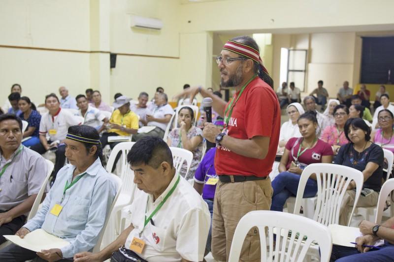 Participando en la segunda asamblea territorial presinodal que tuvo lugar en Yurimaguas. Foto: CAAAP