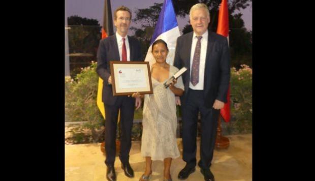 Los embajadores de Alemania y de Francia resaltaron que una mujer peruana sea uno de los líderes sociales que impulsen la protección del medio ambiente y los derechos humanos. (Foto: Embajada de Francia)