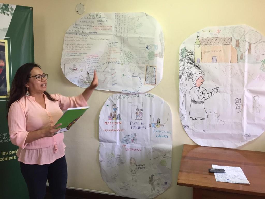 El encuentro se articuló mediante la metodología de ver, discernir y actuar para dar respuestas a las características de la Iglesia que las mujeres amazónicas desean construir. Foto: CAAAP