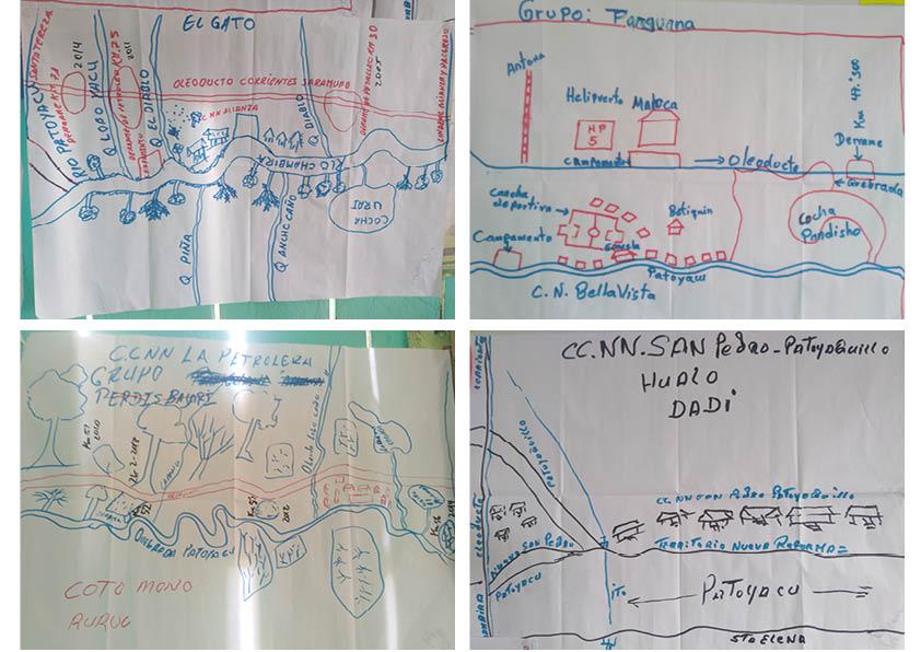 Durante las sesiones los participantes explicaron de forma gráfica sus problemas y preocupaciones. Foto: Verónica Shibuya