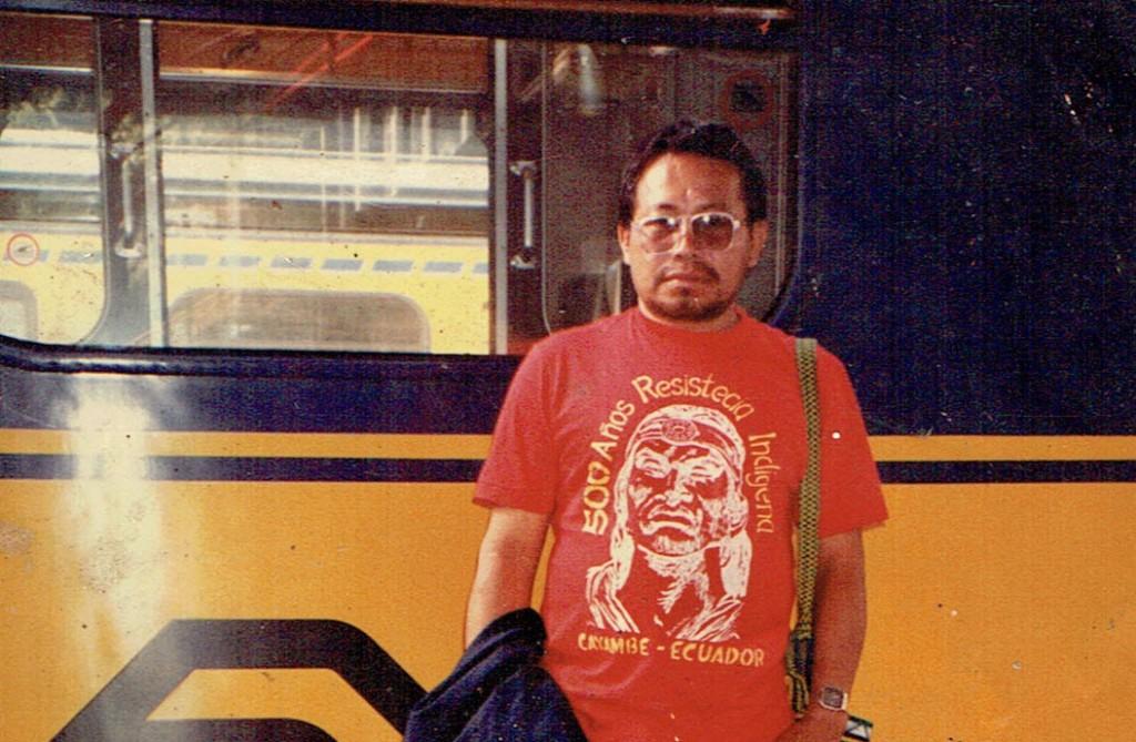 Marcial Vásquez, durante una de sus visitas a Europa en la década de los 90. Foto: Cedida por la familia