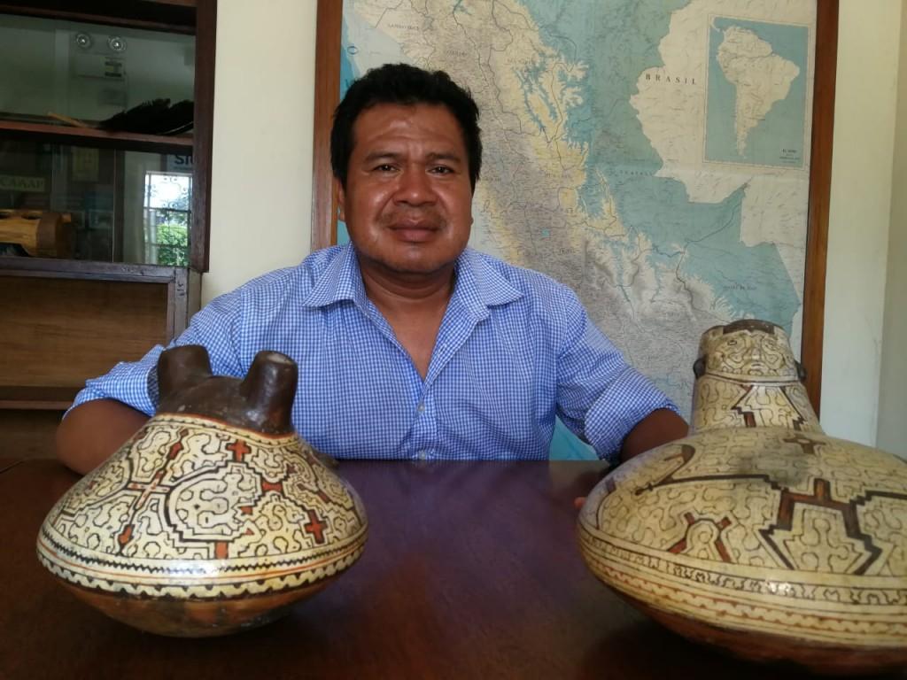 Ronald Suárez, presidente de COSHIKOX, durante su última visita al CAAAP. Foto: Beatriz García