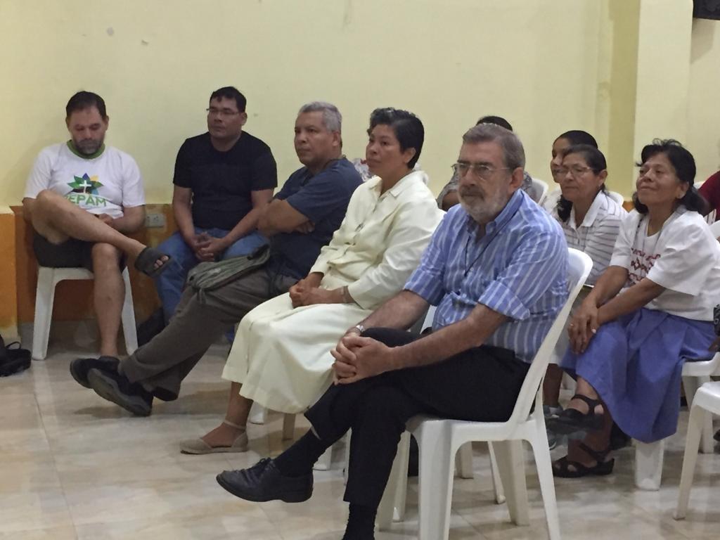 Monseñor Aristin, durante la última Asamblea Vicarial celebrada entre el 18 y el 23 de febrero en Yurimaguas. Foto: CAAAP