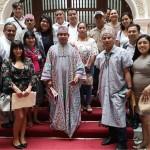 Integrantes de la comunidad Cantagallo junto a parte de los regidores del Concejo Metropolitano de Lima. Foto: Ian Guimaray