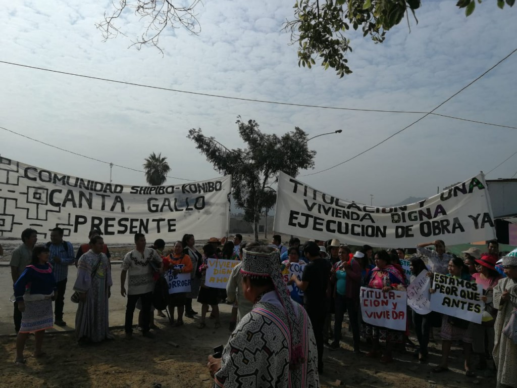 Comuneros de Cantagallo, iniciando su jornada de lucha