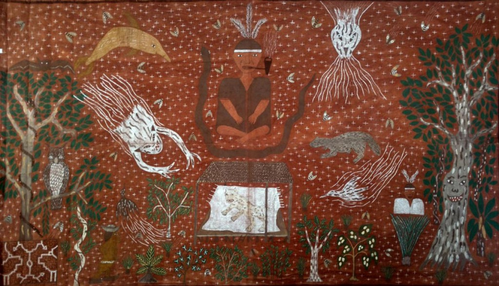 """""""Ceremonia con chamán"""", de Roldán Pinedo."""