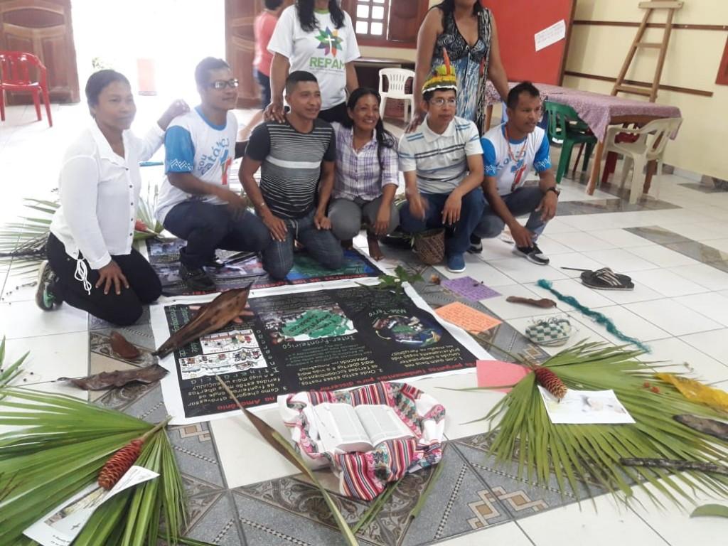 En representación de los pueblos del río Napo, en la frontera entre Perú y Colombia, Rubio ha participado en encuentro de REPAM sobre fronteras indígenas. Foto: R.R.