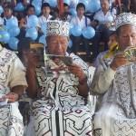 Ancianos del pueblo yine, durante un evento en el distrito de Sepahua. Foto: Radio Sepahua