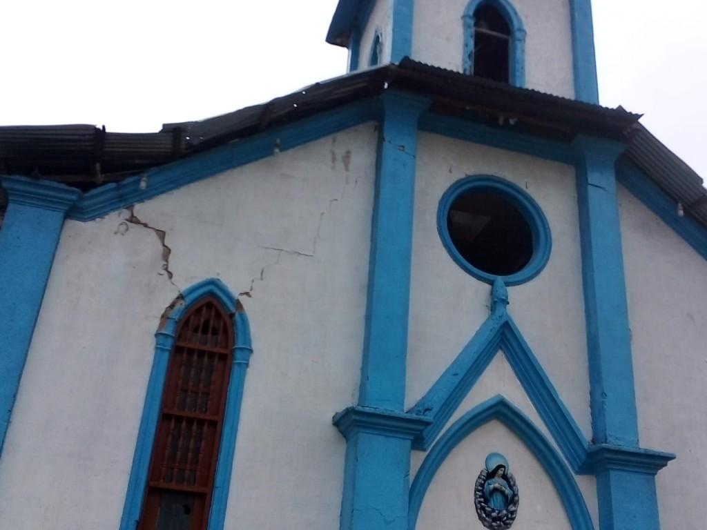 Tres iglesias deberán ser construidas de nuevo ante los grandes daños. La catedral, de 1928, también está muy afectada. Foto: Jaime Palacio
