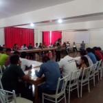 Reunión preparatoria del proceso de consulta previa del Lote 200 desarrollado por el Ministerio de Energía y Minas en distrito de Yarinacocha, provincia de Coronel Portillo, Ucayali. Foto: Jéiser Suárez