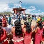 En el mismo lugar. Las comunidades Awajún y Wampis conmemoraron la tragedia del 5 de junio del 2009. Recordaron a las víctimas en la capilla ubicada cerca a la 'Curva del Diablo'. Créditos: Fotos: Clinton Medina