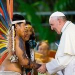 La histórica visita del Papa Francisco a Puerto Maldonado en 2018.