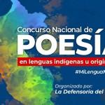 El concurso se promociona bajo el lema 'Mi Lengua, Mi Patria'. Foto: Defensoría del PUeblo
