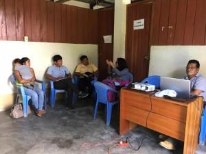 La delegación del Comité de Vigilancia se reunió en la comunidad Nazareth el último 18 de julio. Foto: CAAAP