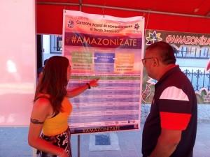 Los visitantes pudieron informarse sobre las propuestas y actividades de la campaña. Foto: Amazonízate Yurimaguas