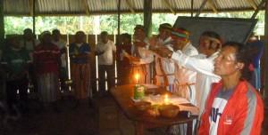 El padre Diego espera que el modelo de Iglesia indígena achuar pueda servir para otros contextos amazónicos. Foto: Cedida