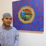 Tony Rodríguez, uno de los jóvenes artistas shipibos que participa en la exposición. Foto: Beatriz García