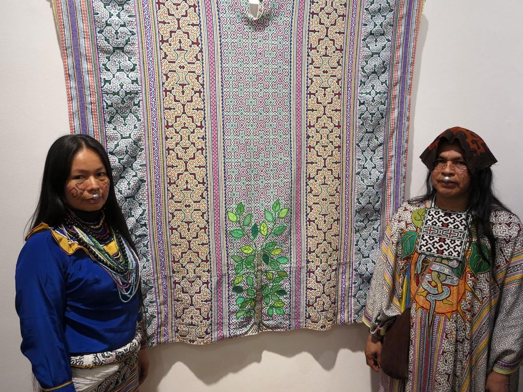 'Una Lima Menos Gris' también muestra artesanías del pueblo shipibo, como sus tradicionales telares. Foto: Beatriz García
