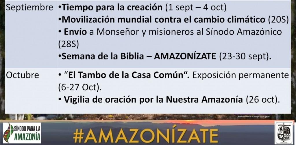 Próximas actividades de la campaña. Foto: Amazonízate Yurimaguas