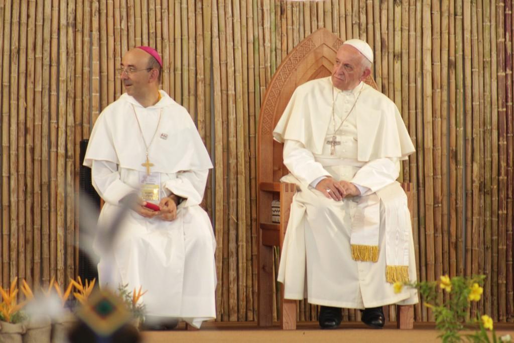 El Papa visitó el Vicariato de Puerto Maldonado en enero de 2018. Foto: Álex Racua