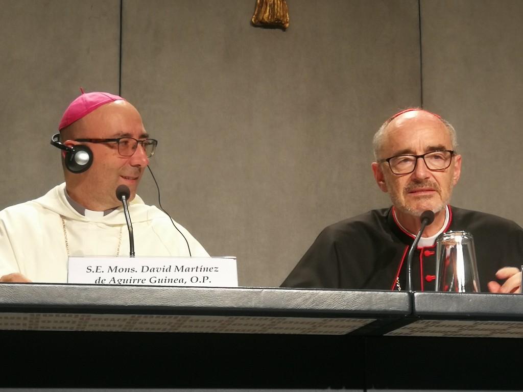 Martínez de Aguirre y Czerny, durante la presentación del documento final del Sínodo Amazónico. Foto: B.G.B.