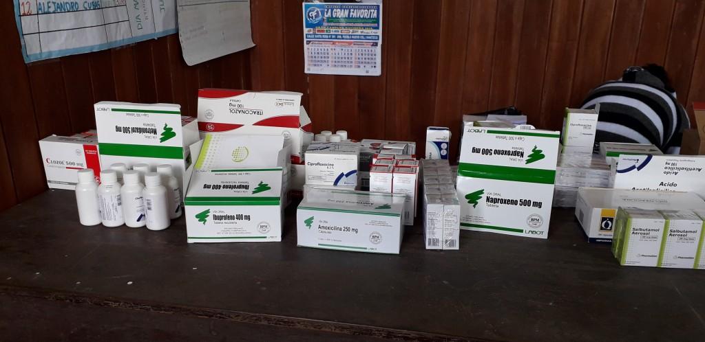 Medicinas para la comunidad de Nazareth. Atención se brindó el 5 de agosto.