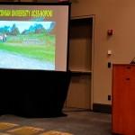 El dr. Musso, durante su presentación en Estados Unidos. Fuente: UCSS