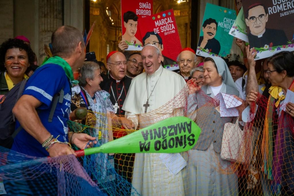 El Papa Francisco y el Cardenal Barreto, durante el encuentro de primera hora de la mañana. Foto: Cedida
