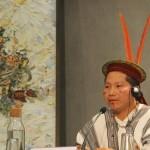 Delio Siticonatzi, durante la rueda de prensa realizada en la Sala Stampa del Vaticano. Foto: Cedida