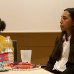 Tania Ávila, a la derecha, durante el encuentro 'Misión para el cuidado de la Casa Común'. Foto: G. Cavalli