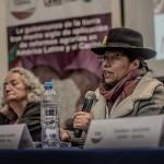 Melania Canales, durante su participació en el X Foro de la Tierra celebrado en Lima semanas atrás. Foto: Luisenrrique Becerra - SER