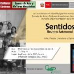 Cartel de difusión de la presentación de la revista amazónica SENTIDOS. Foto: Cedida