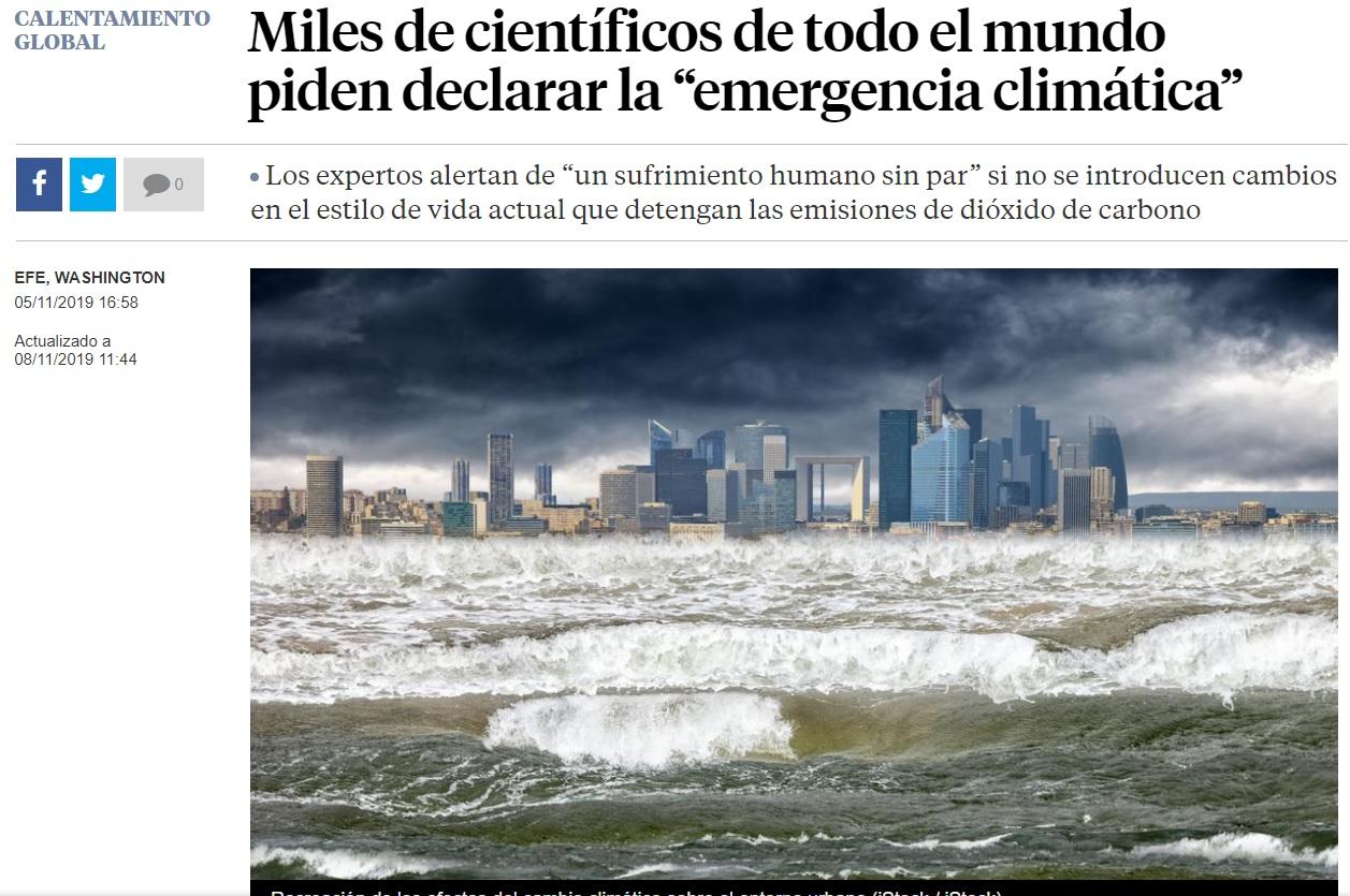 Portada del periódico La Vanguardia del último 5 de noviembre. Foto: Difusión.