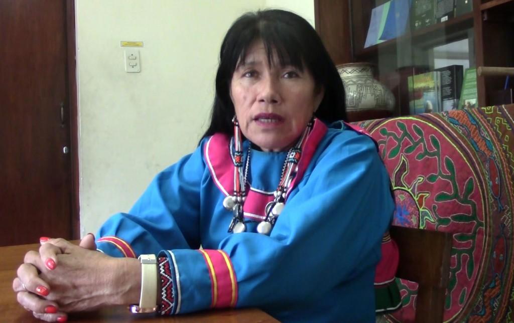 Olinda Silvano, durante la entrevista realizada en las instalaciones del CAAAP. Foto: BGB