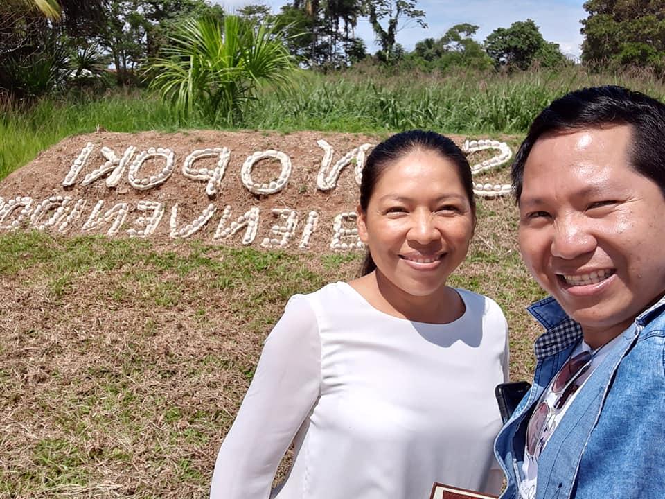 Jovita Vásquez, junto a su compañero Delio Siticonatzi, en la UCSS NOPOKI Atalaya. Foto: D.S