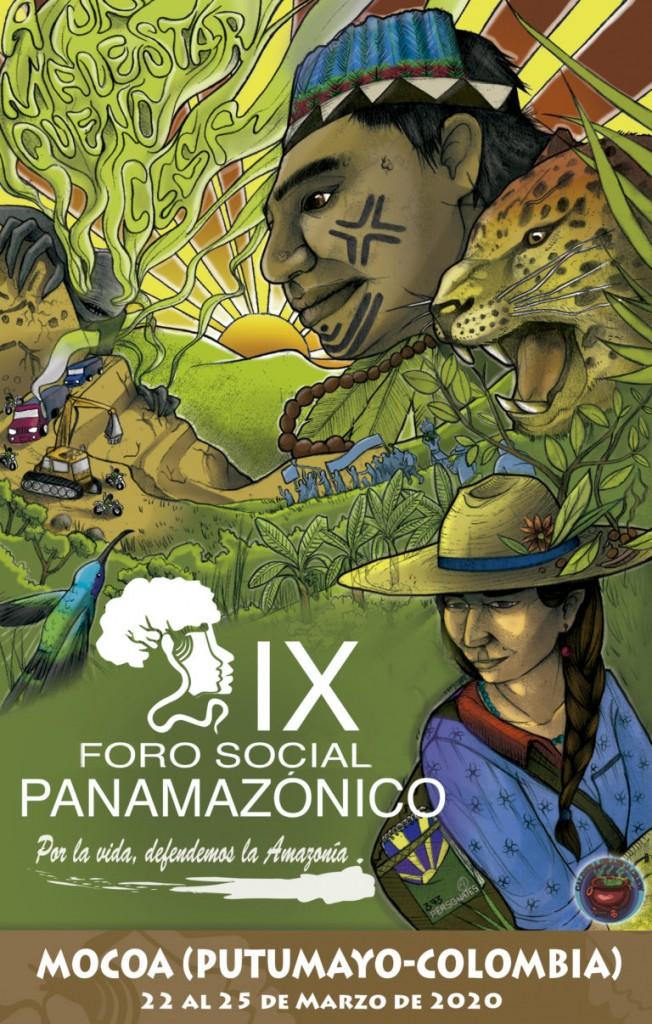 Cartel oficial del próximo Fospa que se desarrollará en Mocoa (Colombia).
