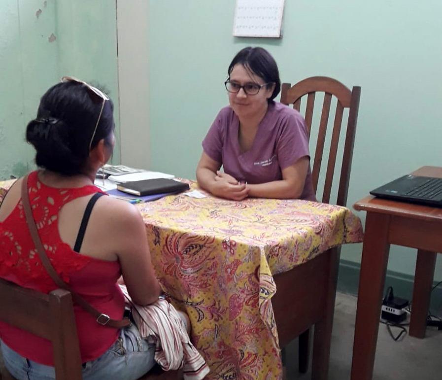 Hermana Jeaneth Andinoo, durante su labor como psicóloga. Foto: Cedida