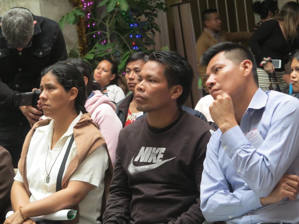 Se cont� con la presencia de algunos dirigentes y moradores de la comunidad urbana de Cantagallo, del pueblo shipibo-conibo. Foto: Cristina Mart�nez