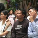 Se contó con la presencia de algunos dirigentes y moradores de la comunidad urbana de Cantagallo, del pueblo shipibo-conibo. Foto: Cristina Martínez