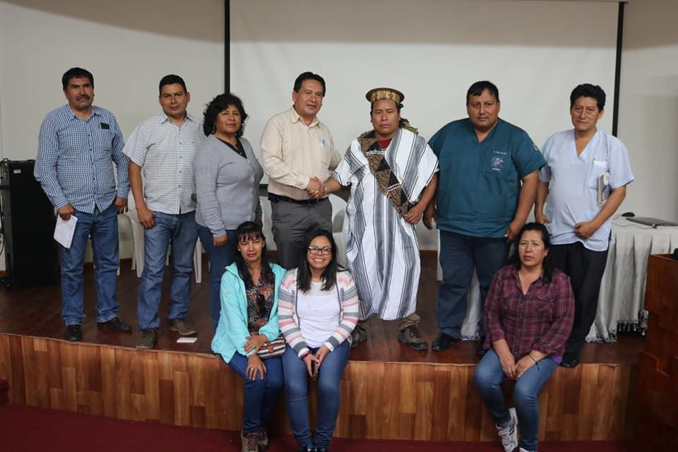 Alcalde de Megantoni, Daniel Ríos, regidores y gerente municipal pidieron ayuda, días atrás, a la Diresa Cusco y la Red de Salud de la Convención. Foto: Municipalidad de Megantoni