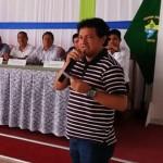 Alcalde de Morona, durante el encuentro desarrollado en Iquitos. Foto: Municipalidad Distrital de Morona