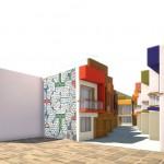 Ministerio presentó diseño de conjunto habitacional bifamiliar. Las características fueron establecidas por la misma comunidad. (Imagen: Difusión)