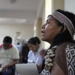 Rita Semperi, durante el último encuentro de pastoral indígena celebrado en Lima. Foto: Pedro Dinos