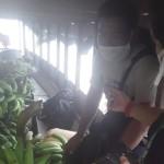 Momento en que la embarcación llegó a Nauta, minutos antes de que los plátanos fueran desembarcados. Foto: Radio Ucamara